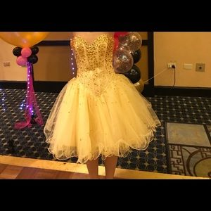 Gold Bat Mitzvah Dress- Size 0